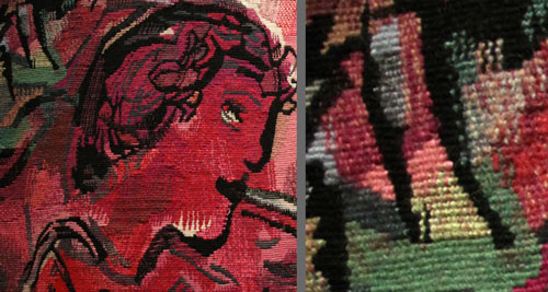 Chagall Tapestry - Yvette Cauquil-Prince Details