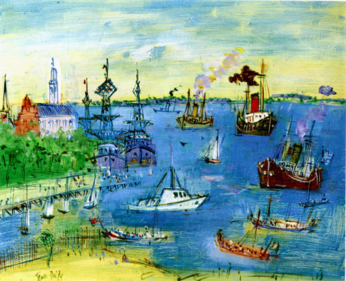 Dufy, Galien Laloue, Chagall, Picasso, Leger, Miro, paintings